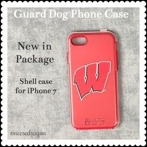 UW Madison iPhone 7 case with screen protector NWT